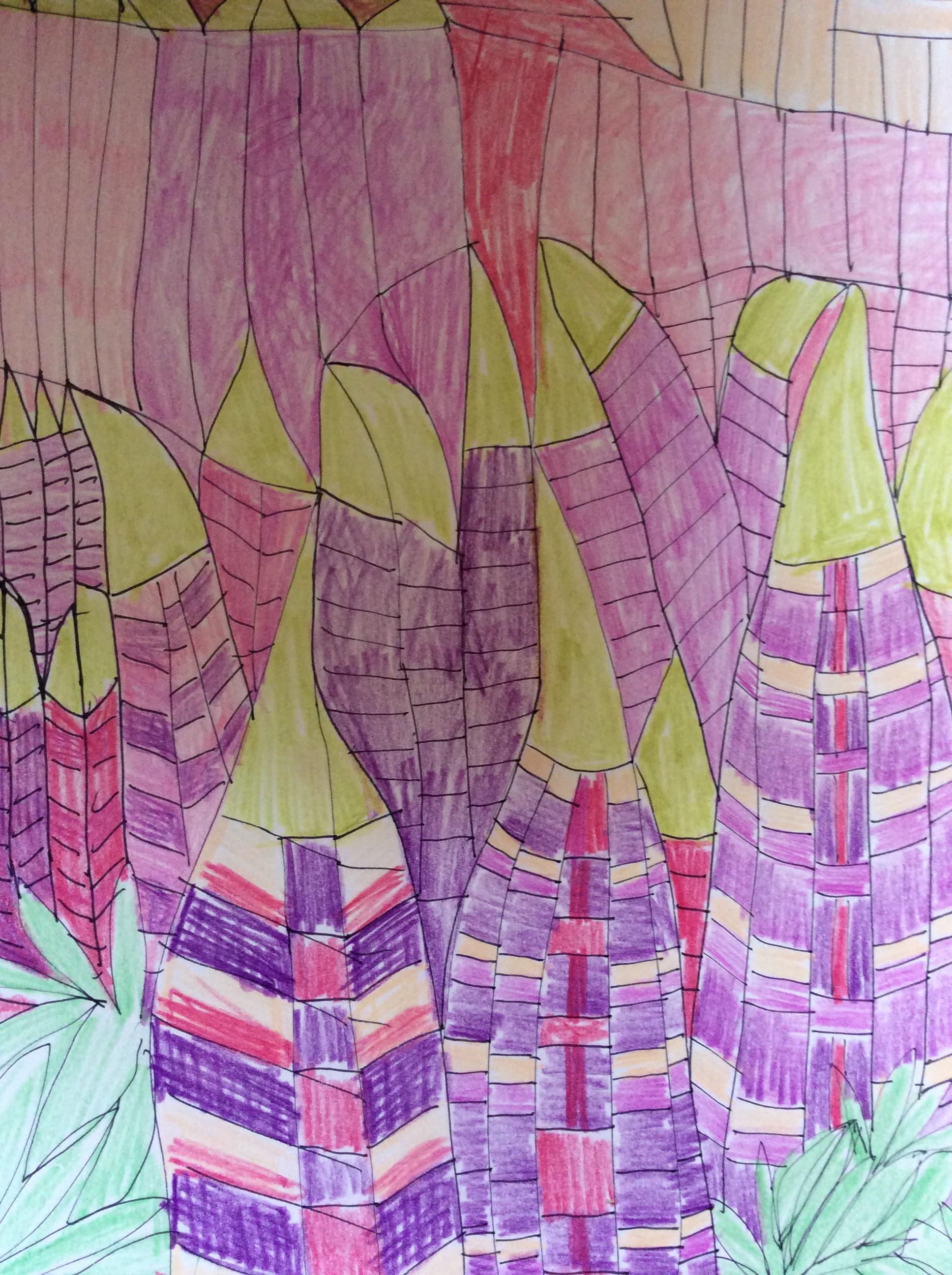 Illustratie 'wilde Lupines'