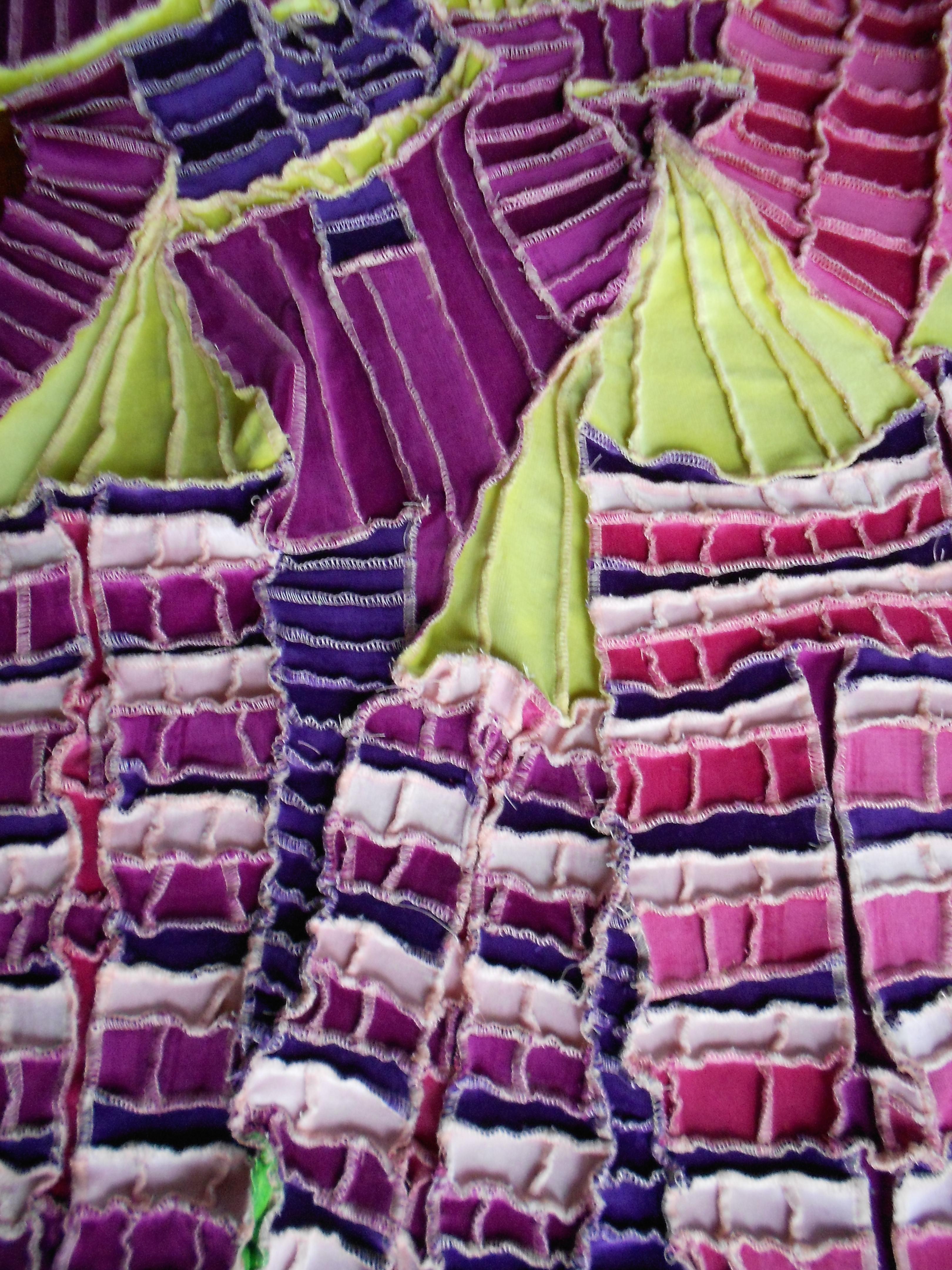 wandkleed lupines, detail kleur