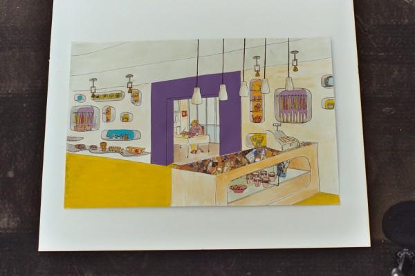 Illustratie overzicht winkel