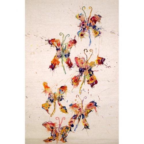 Vlinders, geweven bij het Nederlands Textielmuseum, Tilburg.